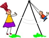 Resonance is like pushing a child on a swing.